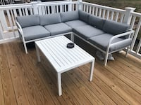 White metal framed coffee table and chairs sectional Gainesville, 20155