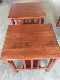 End table for $50 each or both for $90 Coffee table for $70 or all 3 items for $150 Vancouver, V5W 2N5