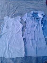 Dress size M and 3/4. 2 $ both