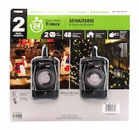 Prime - Heavy Duty Outdoor or Indoor 24-Hour Timer - 2 Pack