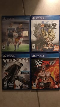 Four assorted Sony PS4 game cases Pretty Prairie