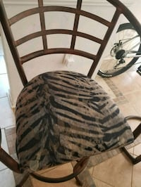 2 animal print metal stools Woodbridge, 22193