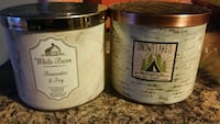 2 bath and body Works candles