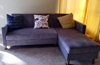 Brand new Blue grey L shape sectional couch