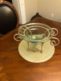 round clear glass bowl with lid Edmonton, T5X 6B7