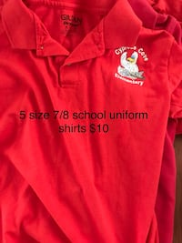 red and white polo shirt Slidell, 70461