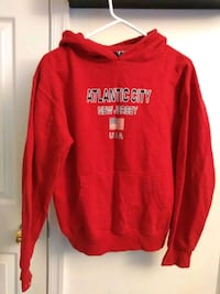 red and white Hollister pullover hoodie Woodbridge, 22191