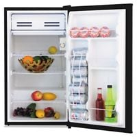 """3.3 Cu. Ft. Refrigerator With Chiller Compartment,White and Black"" MILANO"