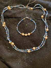 Handmade WaistBeads/Necklace with matching Anklet