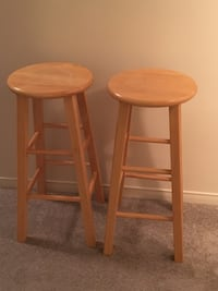 two brown wooden bar stools Barrie, L4N