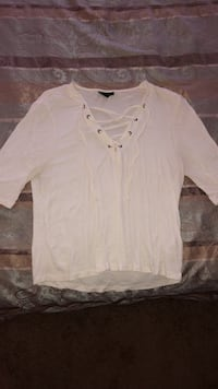 TOPSHOP lace up shirt