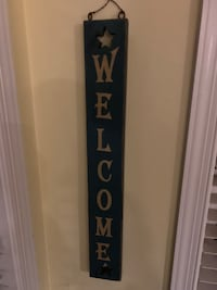 Welcome wood painted wall hanging  Kearneysville, 25430