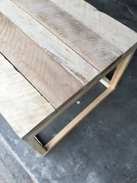 Real wood hand crafted coffee table