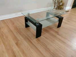Glass Topped Coffee Table LIKE NEW