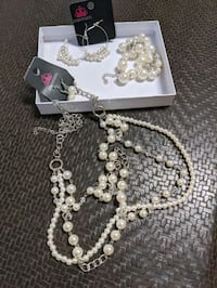Pearl Necklace jewelry set