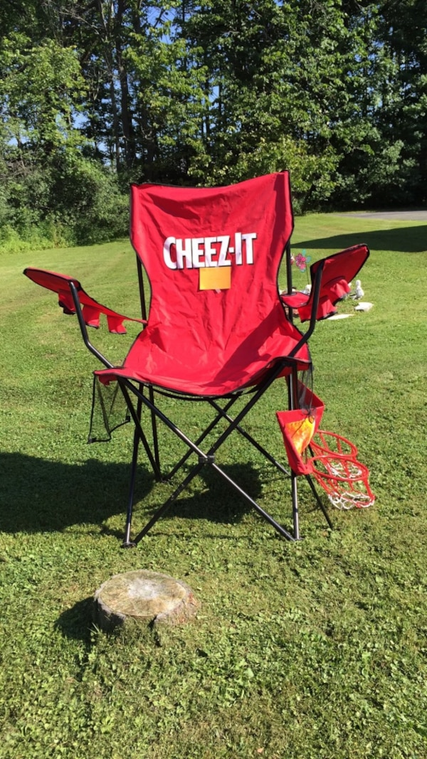 used red cheez it camping chair for sale in whitehall letgo