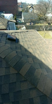 Roofing.  It performs all kind of roof work. shing Toronto, M6H 3C2