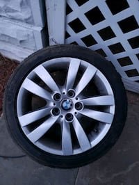 set of 4 bmw rims and tires .. price negotiable make real offer  Parkville, 21234