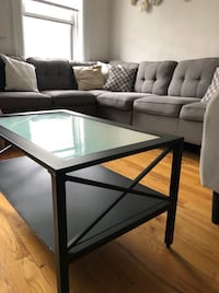 Black Wrought Iron Coffee Table - Indoor or Outdoor