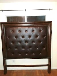 Brown leather queen Head board good condition Annandale, 22003
