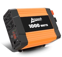 1000W Power Inverter DC 12V to AC 110V with Dual AC Outlets and 2.1A