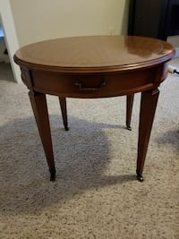 Circular Wooden Coffee/End Table