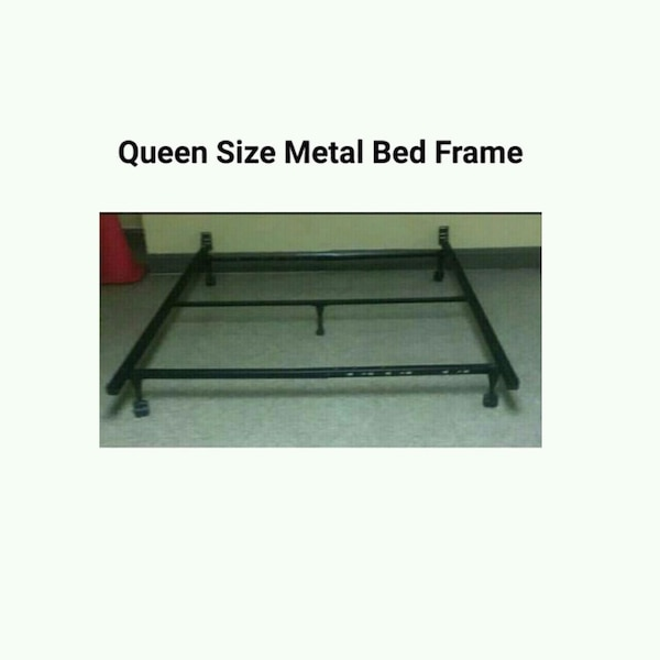 Queen Size Metal Bed Frame with Wheels