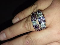 silver-colored and purple gemstone ring Bakersfield, 93308