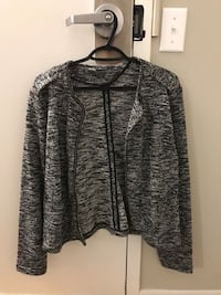 Brand new Womens Black and White Sweater Jacket Barrie