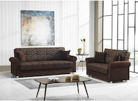 NEW SOFABED & LOVESEAT BED BROWN Clifton, 07013