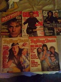 Van Halen lot of 5 Rolling Stone,Guitar World,Rock Williston Park, 11596