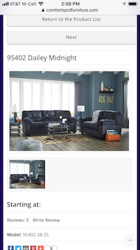 Dailey Midnight Sofa and Love  Mesquite