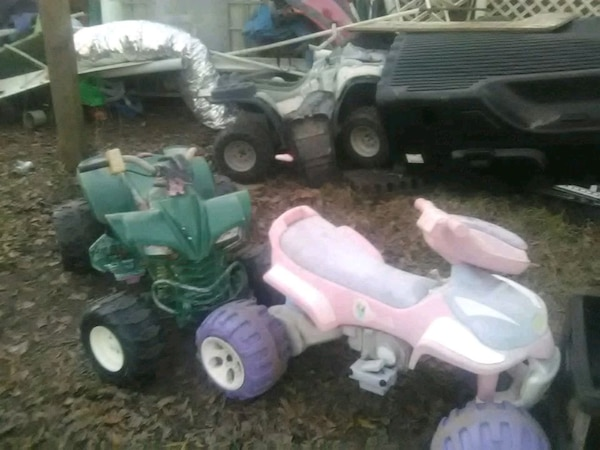 toddler's pink and white ATV