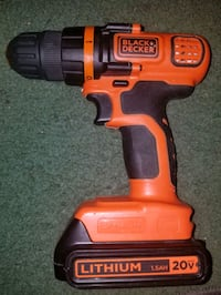 drill- black and decker 1.5ah 20v cordless.  The Colony, 75056