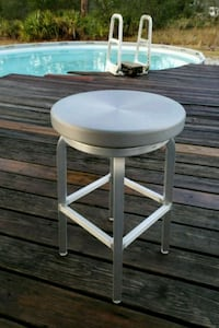 round brown wooden side table Sebring