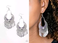 Walk on the wildside purple earrings