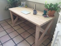 Home office farmhouse unfinished desk Ventura
