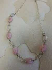 pink and silver beaded necklace Newmarket, L3X 2P2