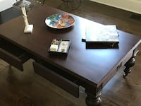 2 in 1 Desk or Coffee Table Beautiful Cherry Wood Greer