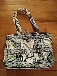 White, blue and green floral tote bag Joliet, 60435