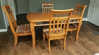 rustic wooden dining table set null