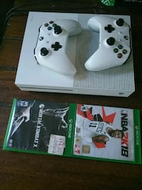 white Xbox One console with controller and game cases Milwaukee, 53208