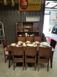 Dining Table, 8 Chairs & China Cabinet