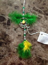 green and yellow DIY dream catcher Quebec, H9H 3Y7