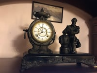 "Antique clock 1890 huge marble ""new haven""with 2keys&stamped/authentic Jurupa Valley, 91752"