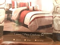 Cal king comforter set - new in bag Toronto, M9A 4J2