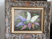 1972 framed original oil painting by Otto Jegodtka called Bouquet  科奎特兰