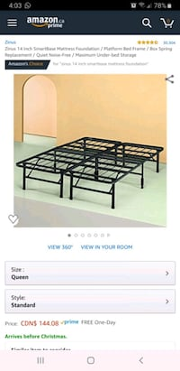"14"" queen bed frame  Mississauga, L5M 3C5"