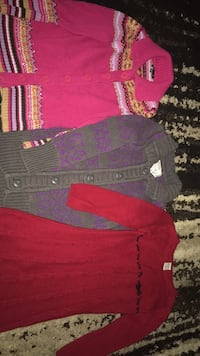 2 girls sweaters and dress