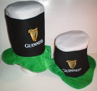 Guinness Beer Tall Top Hat Set of Two London